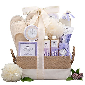Boston bunga- Take Me Away Spa Basket Bunga Penghantaran