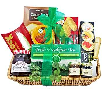 Houston flowers  -  Irish Tea Time Baskets Delivery