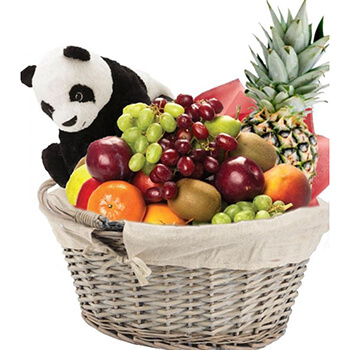 Norway flowers  -  Teddy and Tasty Treats Baskets Delivery