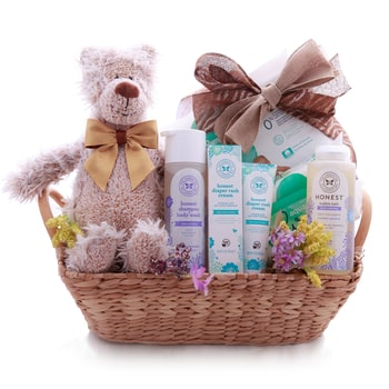 Oslo online Florist - The Baby Shower Basket Bouquet