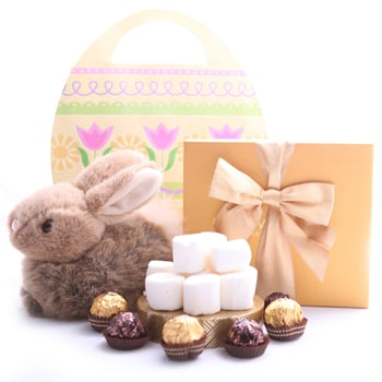 Moscow bunga- Tiny Tuft Easter Set Baskets Penghantaran