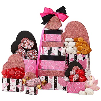 Las Vegas flowers  -  Tower of Sweet Love Baskets Delivery