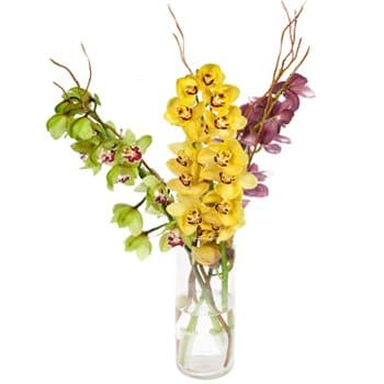 Laos online Florist - Towering Orchids Display Bouquet