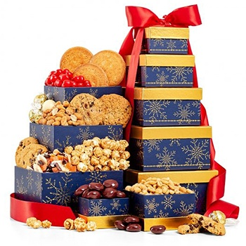 Arlington flowers  -  Towering Treats Gift Basket Baskets Delivery