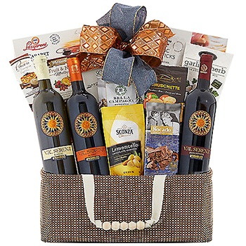 Los Angeles flowers  -  Tuscan Feast Gift Basket Baskets Delivery