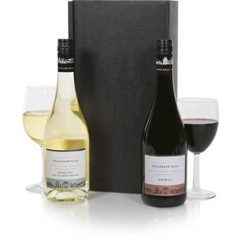 Bradford flowers  -  Australian Duet Wine Set Baskets Delivery