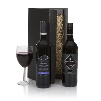 United Kingdom flowers  -  Australian Red Wine Duet Baskets Delivery