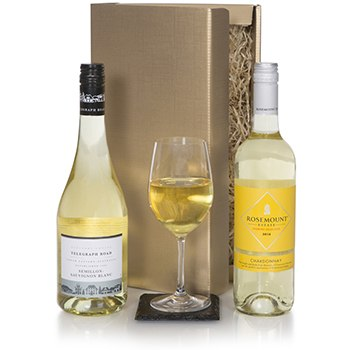 United Kingdom flowers  -  Australian White Wine Duet Baskets Delivery