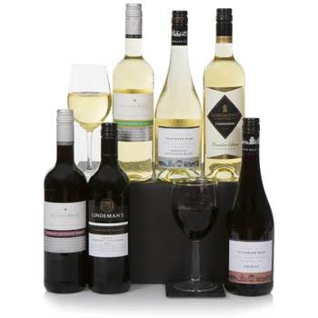 Bradford flowers  -  Australian Wine Gift Set Baskets Delivery