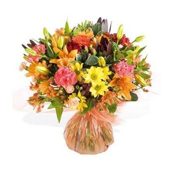 United Kingdom flowers  -  Autumn Fire Baskets Delivery