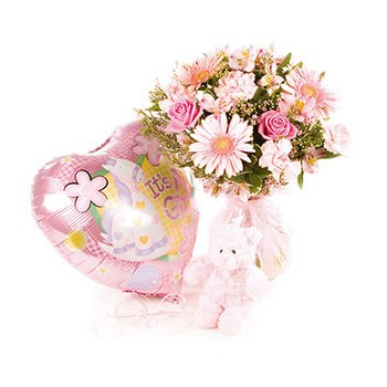 United Kingdom flowers  -  Babies Bloom Baskets Delivery