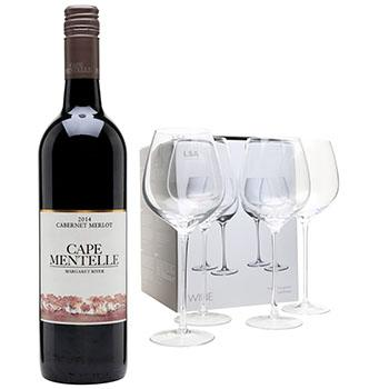 Bristol flowers  -  Cape Merlot Gift Set Flower Delivery