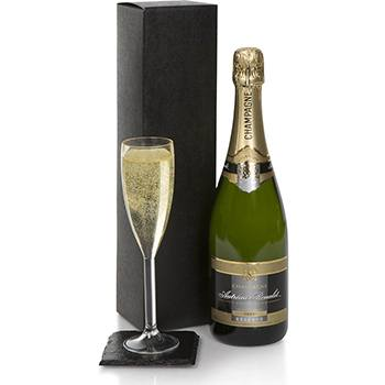 Bradford flowers  -  Champagne Gift Set Flower Delivery
