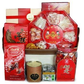 Leeds, United Kingdom flowers  -  Chinese New Year Goodness Baskets Delivery