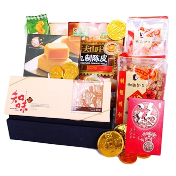 Bradford flowers  -  Chinese New Year Treats Baskets Delivery
