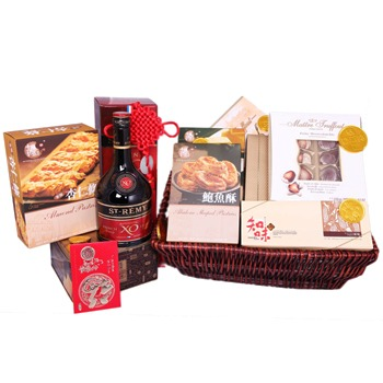 Bradford flowers  -  Chocolates And Brandy Baskets Delivery