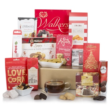 Bradford flowers  -  Christmas Cookies Hamper Flower Delivery