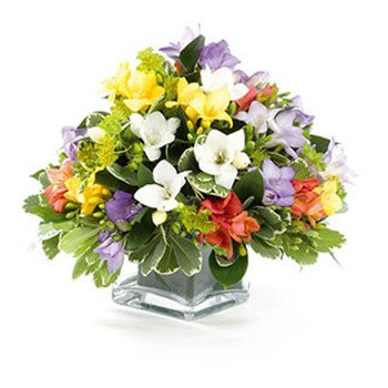 United Kingdom flowers  -  Colorful Cubicle Arrangements Baskets Delivery