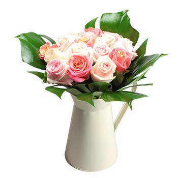 United Kingdom flowers  -  Cup of Roses Bouquet Baskets Delivery