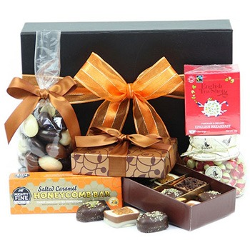 London blomster- Decadent Treats Box kurver Levering