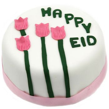 Bradford flowers  -  Eid Tulip Blooms Cake Baskets Delivery