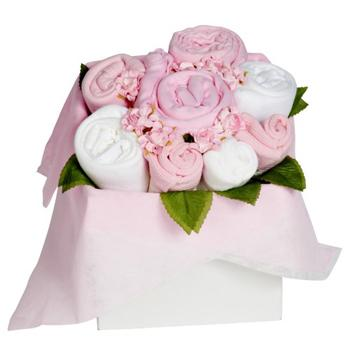 United Kingdom flowers  -  Flower Gift Bouquet for a Baby Girl Delivery