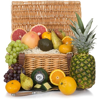 United Kingdom flowers  -  Fruity Indulgence Gift Basket Baskets Delivery