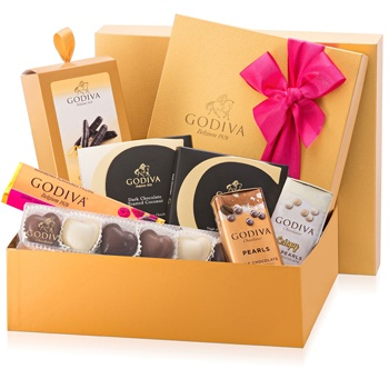 United Kingdom flowers  -  Godiva Classics Baskets Delivery