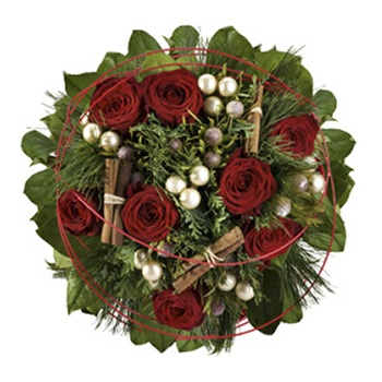 United Kingdom flowers  -  Happy Holidays Floral Display Baskets Delivery