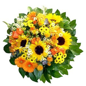 Liverpool blommor- Happy Day Flower Basket Leverans