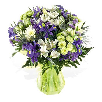 United Kingdom flowers  -  Hues of Blue and Purple Baskets Delivery