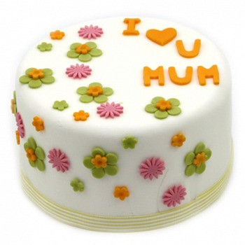 Sheffield flowers  -  I Love Mum Cake Flower Delivery