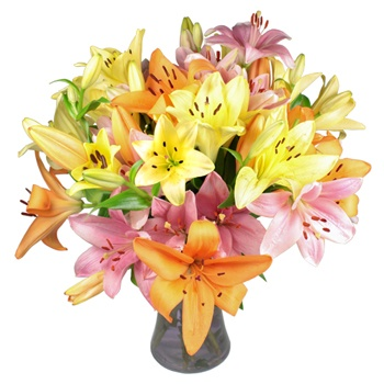 United Kingdom flowers  -  Loved in Lily Bouquet Baskets Delivery