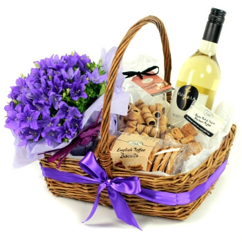 Leeds flowers  -  Luxury Unwrapped Baskets Delivery