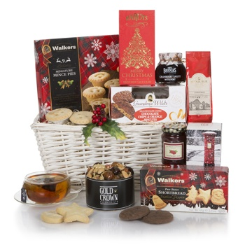 Bradford flowers  -  Merry Moments Holiday Hamper Flower Delivery