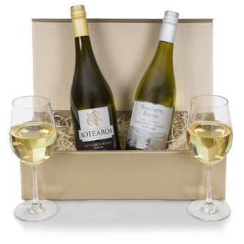 Bradford flowers  -  New Zealand Wine Duet Baskets Delivery