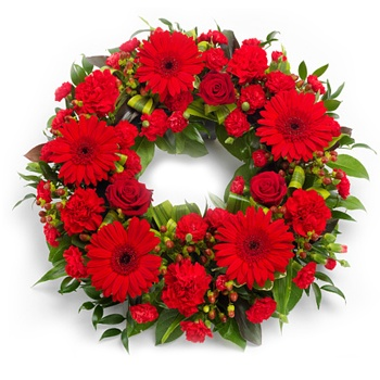 Bradford flowers  -  Passionate Wreath Flower Delivery