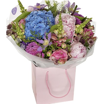 United Kingdom flowers  -  Peonies and Hydrangeas Baskets Delivery