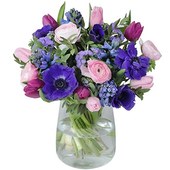 Sheffield flowers  -  Perfect Purple Arrangement Flower Delivery