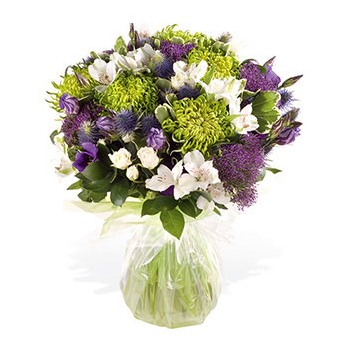 United Kingdom flowers  -  Purple and Green Beauty Baskets Delivery