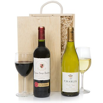 Bradford flowers  -  Robust Wine Gift Set Flower Delivery