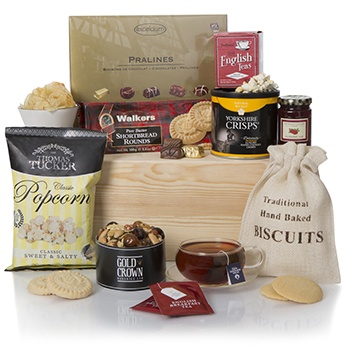 London blomster- Snack Time Hamper kurver Levering