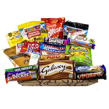 Bradford flowers  -  Sweet Treats package Baskets Delivery