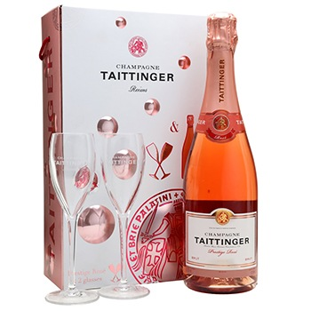 Bradford flowers  -  Tantalizing Taittinger Gift Set Baskets Delivery