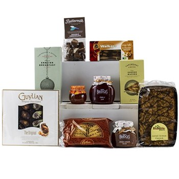 United Kingdom flowers  -  Tea and Sweet Treat basket Baskets Delivery