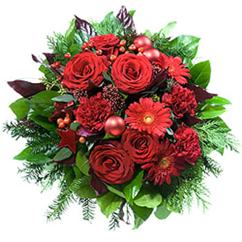 Leeds, United Kingdom flowers  -  Tis The Season Festive Bouquet Baskets Delivery