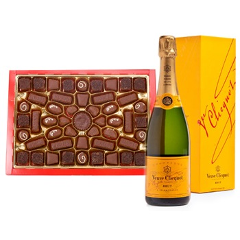 Leeds, United Kingdom flowers  -  Veuve and Chocolate Baskets Delivery