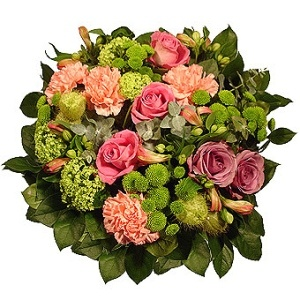 London blomster- Victorian Sophistication Flower Basket Levering