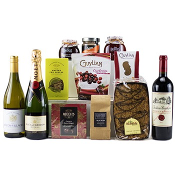 Leeds, United Kingdom flowers  -  Wine and Snack Palette Baskets Delivery