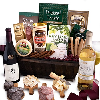 Milwaukee flowers  -  A Bushel and Pinot Gift Basket Baskets Delivery
